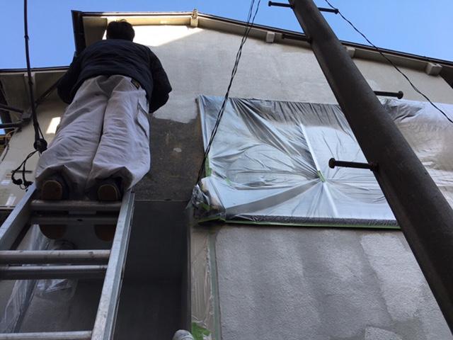 川崎市 旧塗膜が剥がれてしまった為外壁塗装工事を行いました!