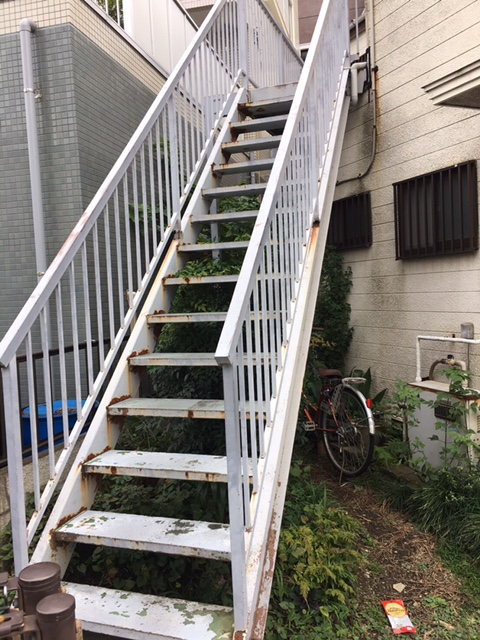 大田区鉄骨階段・共用部防水工事を行いました!!