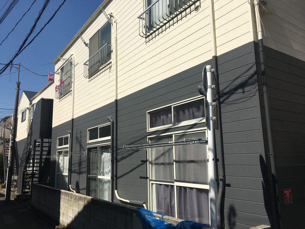 東京都アパート 屋根・外壁塗装工事を行いました!
