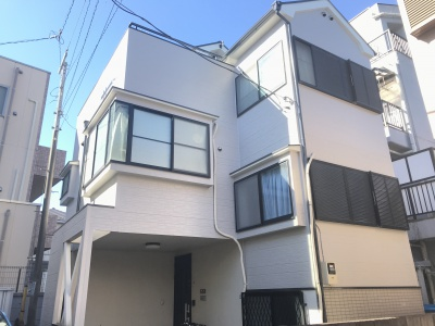 横浜市神奈川区Y様邸外壁リフォーム工事を行いました